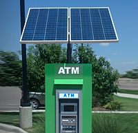 Solar-powered ATM machines